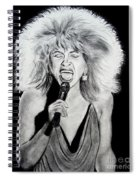 Singer And Actress Tina Turner  Spiral Notebook