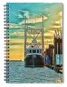 Single Fish Boat Hdr Spiral Notebook