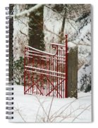 Single Red Gate Spiral Notebook