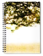 Single Tree In Motion Spiral Notebook