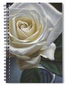 Single White Rose Spiral Notebook