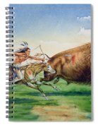 Sioux Hunting Buffalo On Decorated Pony Spiral Notebook