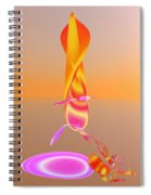 Sitting By The Fire Spiral Notebook
