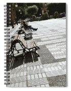 Sitting In The Park - Madrid Spiral Notebook