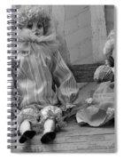 Sitting Pretty In Black And White Spiral Notebook
