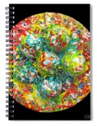 Six  Colorful  Eggs  On  A  Circle Spiral Notebook