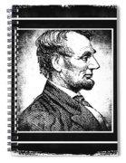 Sixteenth President Bw Spiral Notebook