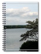 Skaneateles Lake In Ny Finger Lakes Water Color Effect Spiral Notebook