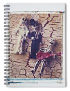 Skeleton Bride And Groom Spiral Notebook