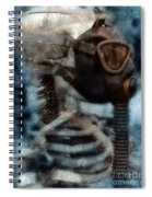 Skeleton In Gas Mask Spiral Notebook