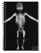 Skeleton Of A Baby Spiral Notebook