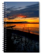Skeloton Lake Sunset Hdr Spiral Notebook