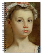 Sketch Of A Young Girl Spiral Notebook
