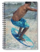 Skimboardin' In Dewey Spiral Notebook
