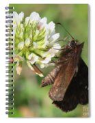 Skipper On Clover Square Spiral Notebook