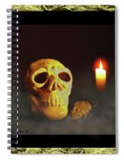 Skull And Candle Spiral Notebook
