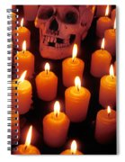 Skull And Candles Spiral Notebook