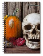 Skull And Gourds Spiral Notebook