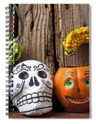 Skull And Jack-o-lantern Spiral Notebook