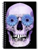 Skull Art - Day Of The Dead 3 Spiral Notebook