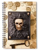 Skull Box With Skeleton Key Spiral Notebook