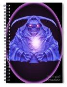 Skull Orb Spiral Notebook