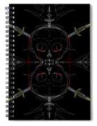 Skulls And Daggers Spiral Notebook