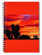 Morro Bay California Sky Fire Spiral Notebook