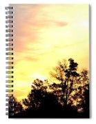 Sky Of Fire Spiral Notebook