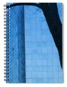 Sky Scraper Tall Building Abstract With Windows Tree And Reflections No.0066 Spiral Notebook