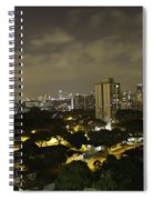 Skyline Of A Part Of Singapore At Night Spiral Notebook