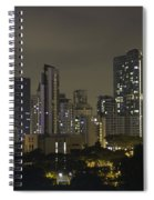 Skyline Of Singapore At Night As Seen From An Apartment Complex Spiral Notebook