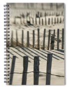 Slats Of Wooden Fence Throwing Shadows Spiral Notebook