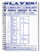Slave Auction Notice Spiral Notebook