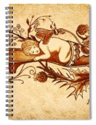 Sleeping Angel Original Coffee Painting Spiral Notebook