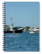 Sleepy Boats At Chatham - Cape Cod  Ma Spiral Notebook
