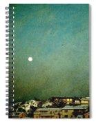 Sleepy Winter Town Spiral Notebook