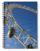Slice Of The Wheel Of London Eye From An Angle Spiral Notebook