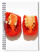 Sliced Red Peppers Spiral Notebook