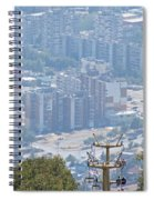 Sliven Bulgaria From Chair Lift Spiral Notebook