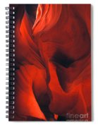 Slot Canyon Abstract Spiral Notebook