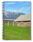 Slovenian Hayrack And Woodpile Spiral Notebook