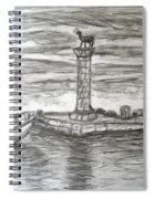 Small Boats At Rhodes Port Spiral Notebook