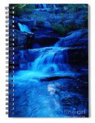 Small Waterfall Going Into Spirit Lake  Spiral Notebook