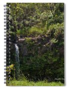 Small Waterfall - Hana Highway Spiral Notebook