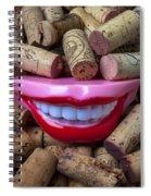 Smile Among Wine Corks Spiral Notebook