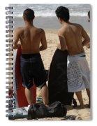 Smile Boys Bondi Beach Australia Spiral Notebook