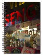 Smiling Buddha In The Window Spiral Notebook