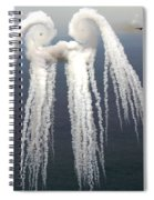 Smoke Angel Created By Wingtip Vortices Spiral Notebook