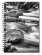 Smokey Mountain Stream Of Flowing Water Over Rocks Spiral Notebook